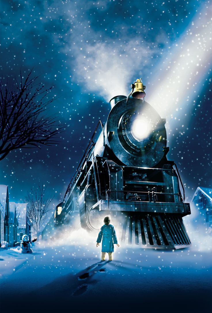The Polar Express by Chris van Allsburg digital, contrapicado, luces frías y colores fríos, dirección,