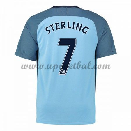 Manchester City 2016-17 Sterling 7 Thuis Tenue Goedkope Voetbalshirts Clubs