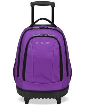 """Travel Select 18"""" Wheeled Backpack, Created for Macy's - Purple"""