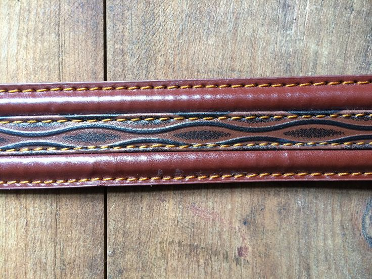 Vintage Milano Brown/ Tan Patterned Mens Belt - Brand New XXL - Leather lined