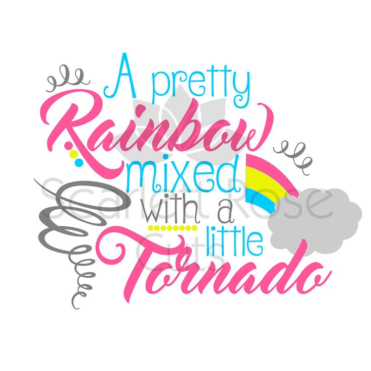 Rainbow mixed with a Tornado, SVG cut file, Summer, Spring girls shirt design by ScarlettRoseCuts on Etsy