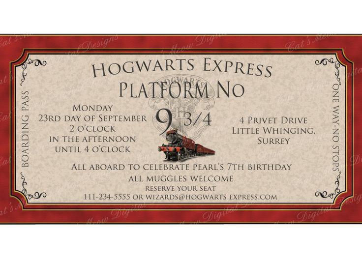 Harry Potter Party Invitations Uk