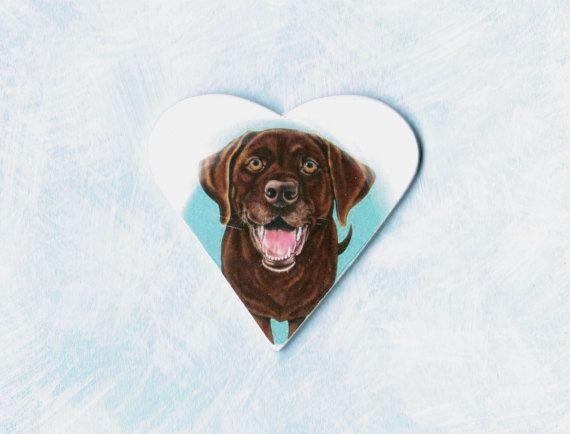 Chocolate Labrador Retriever Jewelry  Chocolate Lab by ArtbyWeeze