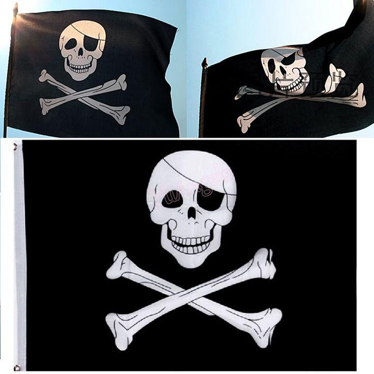 Купить товар1 Шт. Горячая Большой Череп Скрещенные Кости Пиратский Флаг…