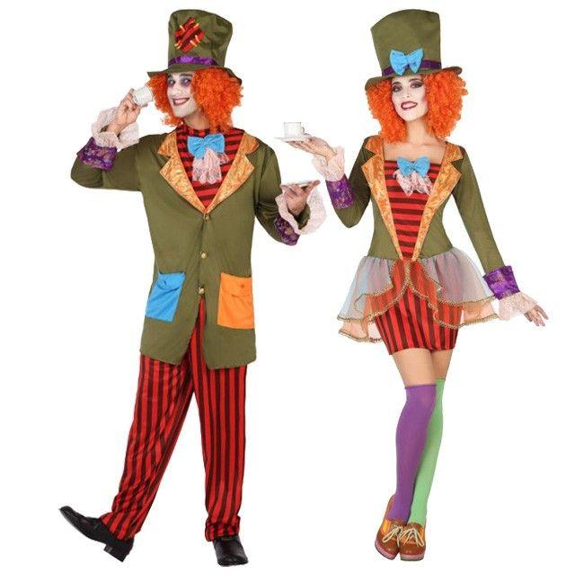 Pareja de Sombrereros Locos #parejas #disfraces #carnaval #novedades2017