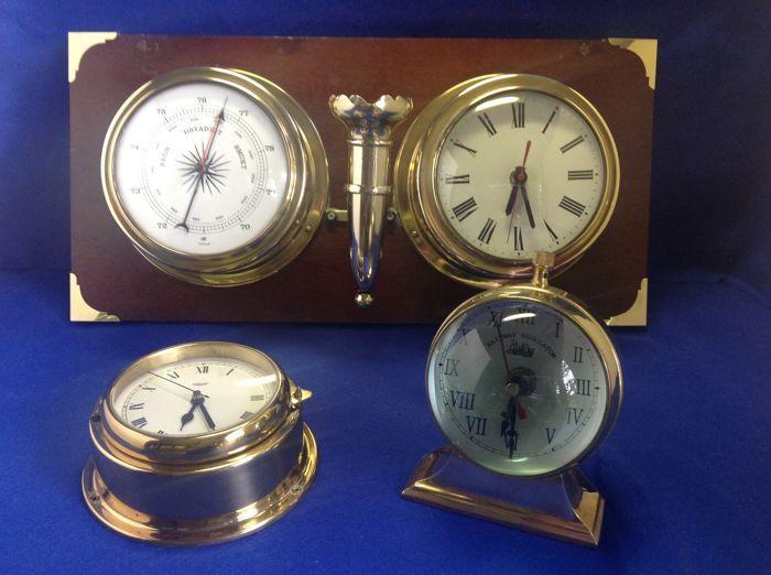 Online veilinghuis Catawiki: Set van verschillende nautische en railway klokken en barometer.