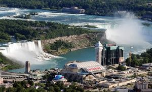 Groupon - Stay with Optional Water-Park Passes at Sheraton On The Falls in Niagara Falls, ON in Niagara Falls, ON. Groupon deal price: $115