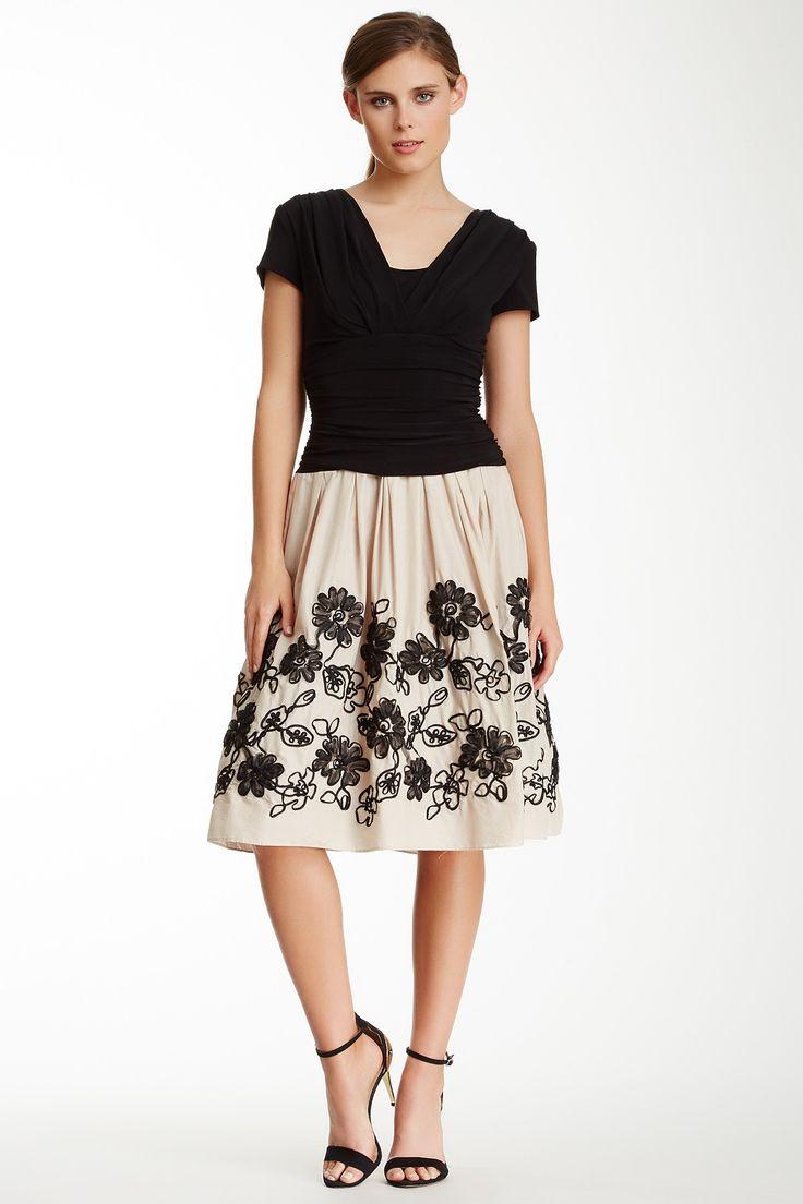 Sl sl fashion dresses - Sl Fashions Short Sleeve Drape Top Embroidered Party Dress By Sl Fashions On Hautelook