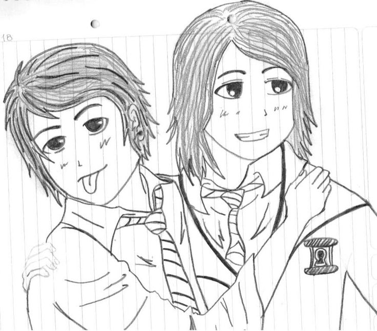 Gerard and Frank from My Chem! (Ignore Gee's hand)