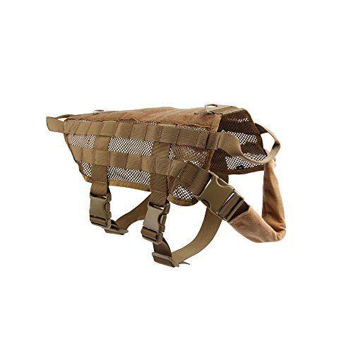 yisibo été tactique Gilet en maille Harnais de dressage pour chien de chasse de Police molle Compact Harnais pour chien en nylon pour femme…