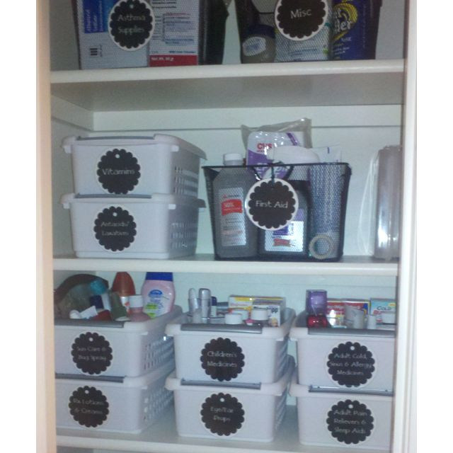Newly Organized Bathroom Cabinet Household Organization