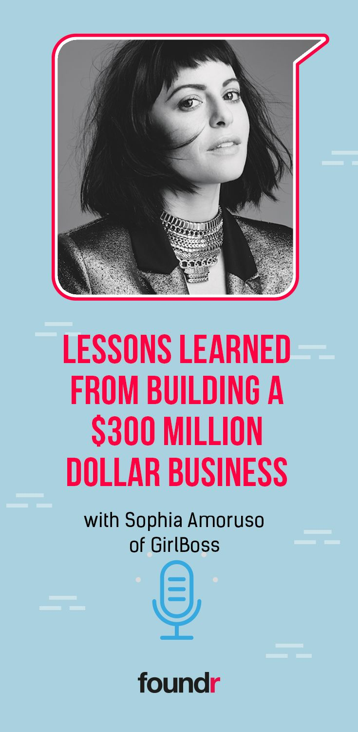 Entrepreneur, trailblazer, icon. Sophia Amoruso is all that and more, and she shares with us lessons from her colorful career, and what's next.