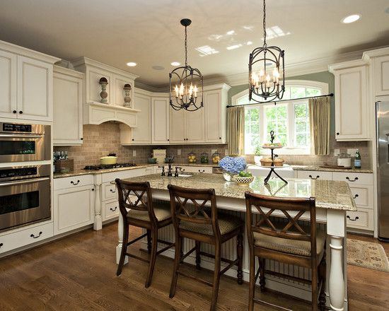 17 best ideas about off white cabinets on pinterest for Cream and brown kitchen ideas