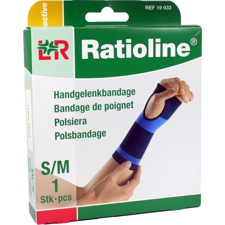 RATIOLINE active Handgelenkbandage Grösse S-M:   Packungsinhalt: 1 St Bandage PZN: 01805711 Hersteller: Lohmann & Rauscher GmbH & Co.KG…