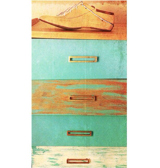 C moda restaurada tonos turquesa y craquelado muebles - Muebles craquelados ...
