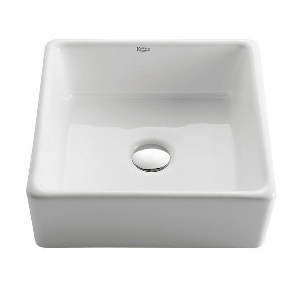 You Ll Love The Ceramic Square Vessel Bathroom Sink At Wayfair Great Deals On All Home Improvement Products Ceramic Bathroom Sink Bathroom Sink Ceramic Sink