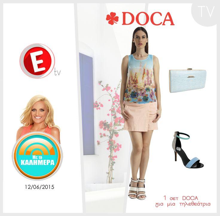Διαγωνισμός DOCA & Με το καλημέρα Etv  Στον διαγωνισμό που πραγματοποιήθηκε στην εκπομπή της Χριστίνας Λαμπίρη Με το καλημέρα, του #epsilontv στις 12/06/15 μία τυχερή κέρδισε 2 ολοκληρωμένα #DOCA Total Look! Για τις πρωινές & τις βραδινές εμφανίσεις της