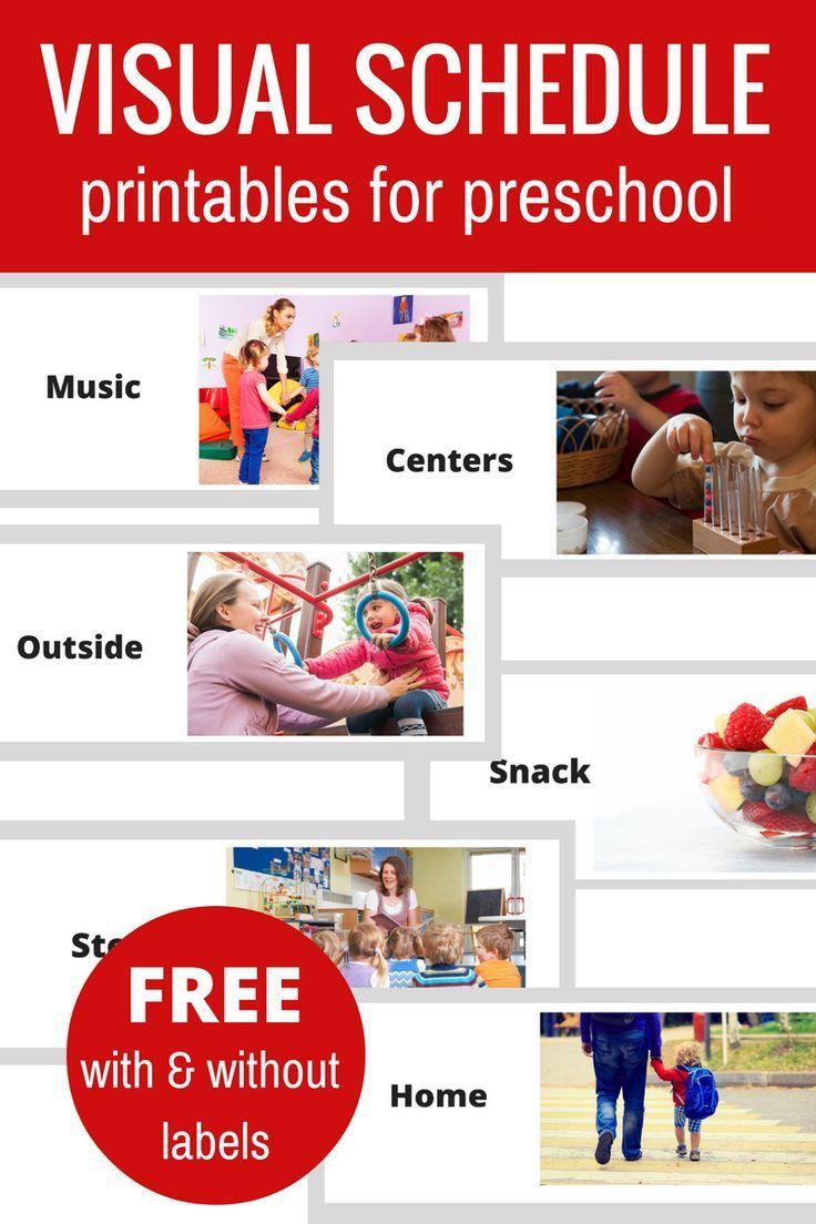 Free Printable Visual Schedule For Preschool Preschool Schedule