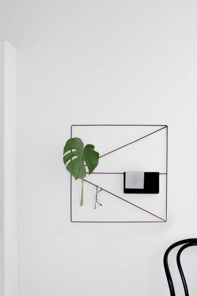 Arrow Grid wall grid by wallment. Minimal wall storage object, Finnish design, Scandinavian style.