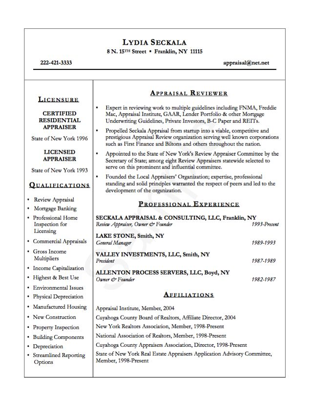Example Appraisal Reviewer Resume - http\/\/resumesdesign - resume reviewer