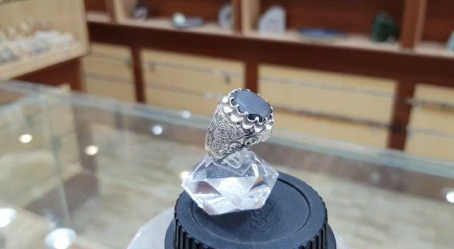 من اجلكم مجوهراتنا فاخرة خاتم رسمي اماسونايت مميز طبيعي100 Massonite للعرض Video
