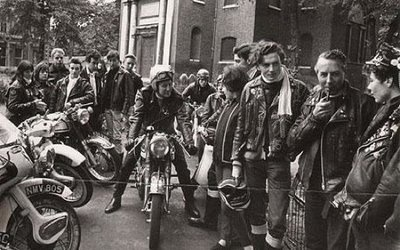greasers and motorcycle gathering