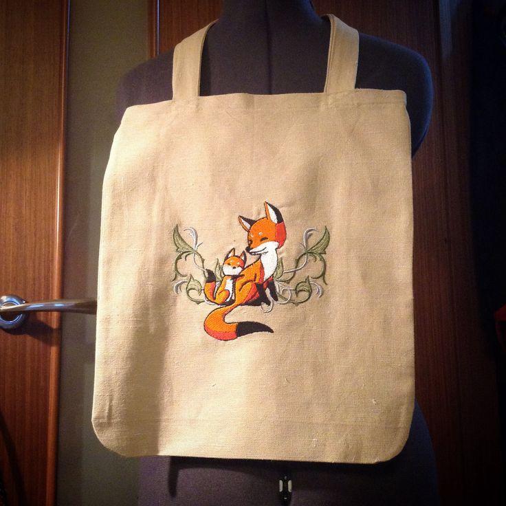 """Текстильная сумка """"Лисички"""""""