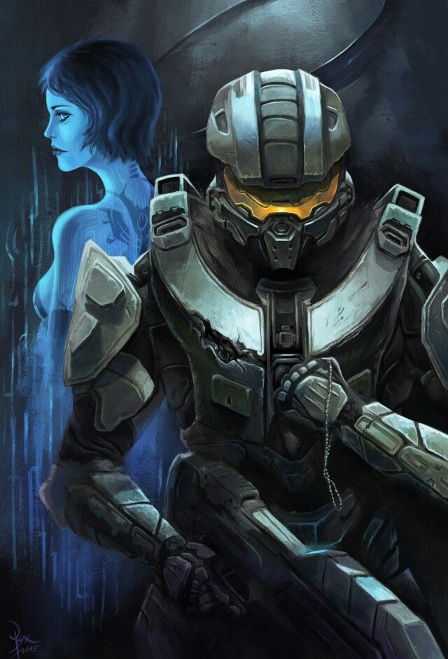 Another fan art of master chief and cortana