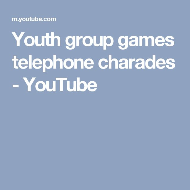 Youth group games telephone charades – YouTube