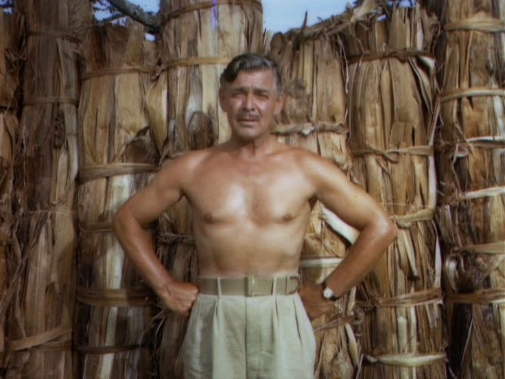 Image result for gable bare-chested in mogambo