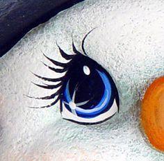How to paint cartoonish eyes with acrylic