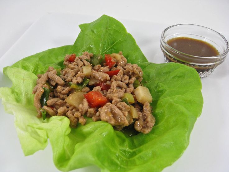 Low Carb Chicken Lettuce Wraps - Skinny Kitchen - W.W. 3 Wraps 5 Points Plus