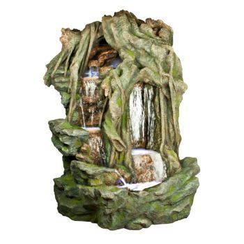 Tree Branches Double Waterfall w/LED Lights Large  Tree Branches Double Waterfall w/LED Lights This wonderful Tree Branches Double Waterfall w/LED Lights is sure to enhance the appeal of any area. Infuse your favorite space with character, style and a whimsical charm with our range of unique statues and decorative accessories.