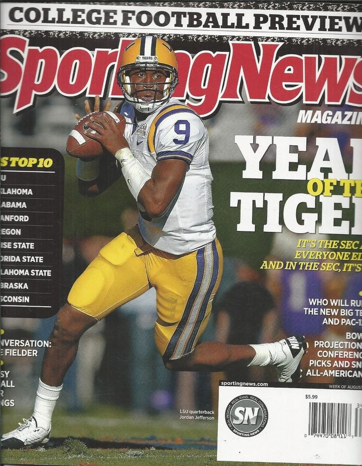 Sporting News magazine College football Prince Fielder Fantasy player rankings