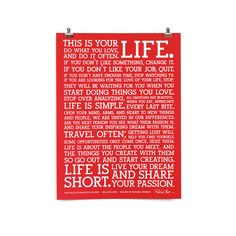 The Manifesto Red Fab Exclusive, $11, now featured on Fab. -- poster for working space and office