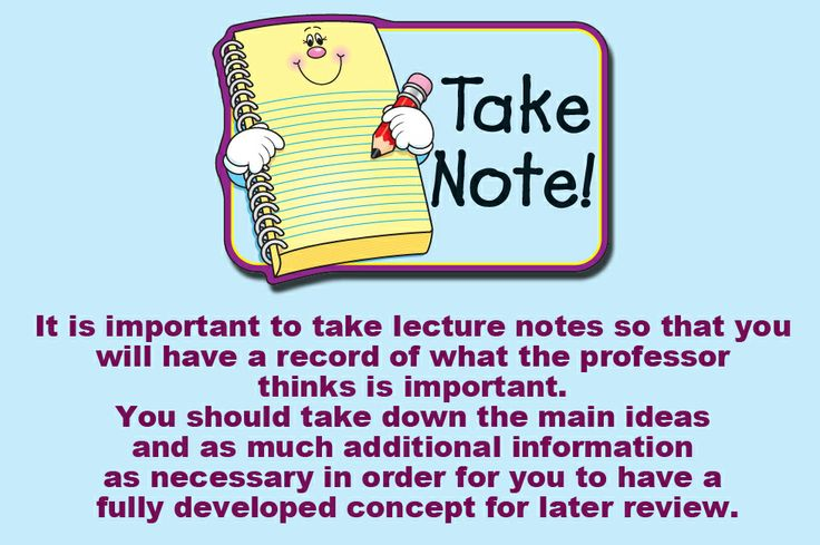 importance of note taking at a Thank you for displaying the importance of note taking skills and the variety of styles that can be used in the classroom today jennifer saldana vicki davis says.