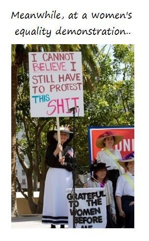 ahahaThe Women, Equality Demonstrations, Go Girls, Women Equality, Old Lady, Funny Signs, Girls Power, Funny Commercials, Protest Signs
