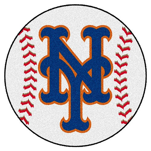 New York Mets Baseball Shaped Area Rug Floor Mat