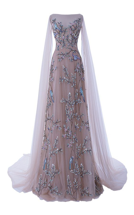 The Dawn Chorus Tulle Gown by HAMDA AL FAHIM for Preorder on Moda Operandi