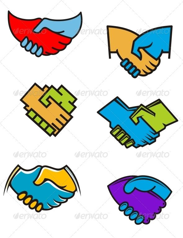 Handshake Symbols and Icons #GraphicRiver Handshake symbols and icons set for business or another design. Editable EPS8 (you can use any vector program) and JPEG (can edit in any graphic editor) files are included SPORTS MASCOTS MEDICINE FOOD LABELS WEDDING DESIGN ELEMENTS FLORAL OBJECTS WEB ICONS ANIMALS Created: 30January13 GraphicsFilesIncluded: JPGImage #VectorEPS Layered: Yes MinimumAdobeCSVersion: CS Tags: agree #agreement #business #businessman #communication #concept #contract…