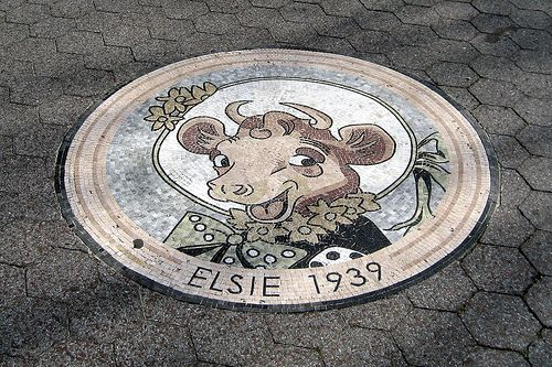 NYC - Queens - Flushing - Flushing Meadows-Corona Park - Elsie mosaic: Queen, Mosaics Design