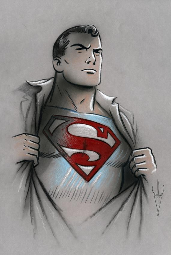 Superman Classic Animation Drawing