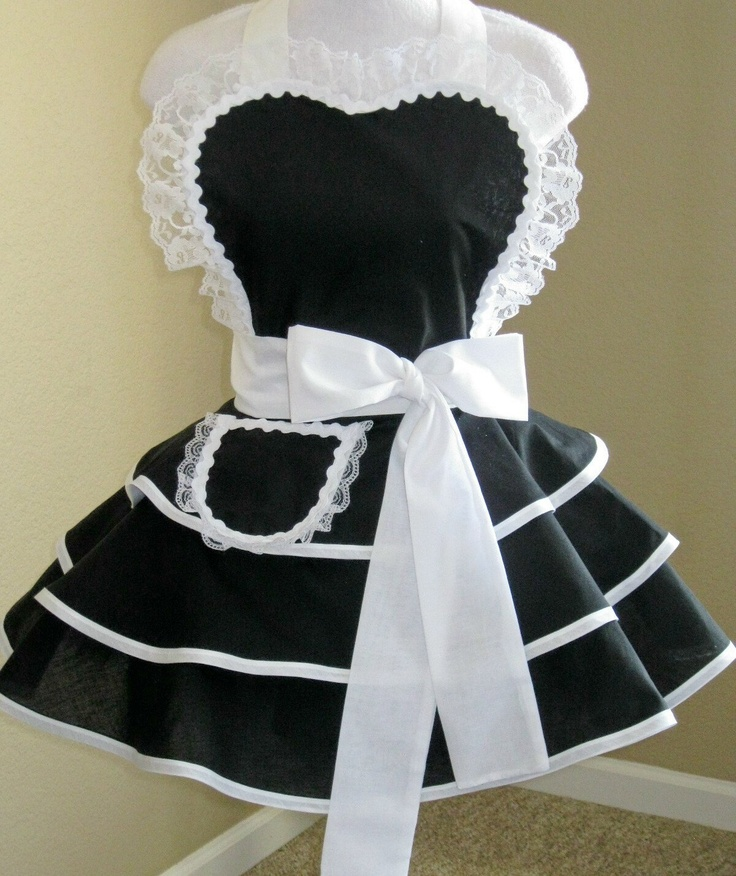 French Maid Apron -Black