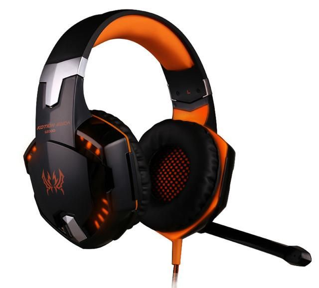 Best Computer Wire Gaming Headphone Gaming Headset Over Ear casque gamer Game Headphone With Microphone Mic LED light for PC