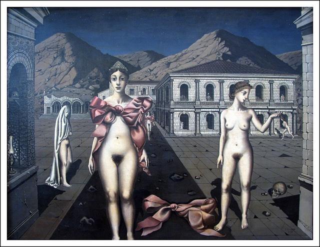 "Paul Delvaux ""De roze strikken"" 1937"