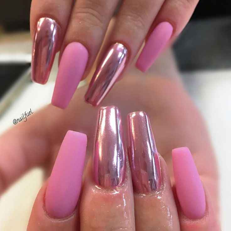 Best 10+ Pink Chrome Nails Ideas On Pinterest