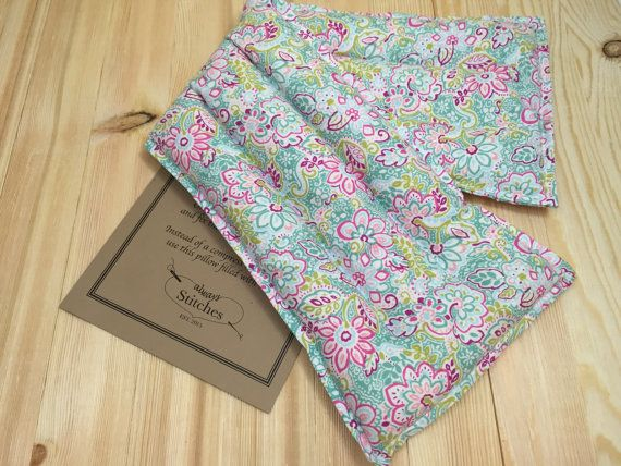 Rice Heating Pad Microwave heat pad Neck by AlwaysStitches