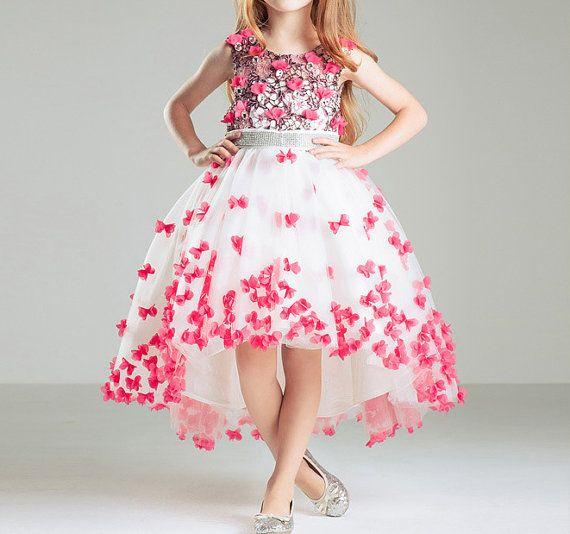 Flower Girl Dress Plum Blossom Pink Flower Girl by BridalDebut