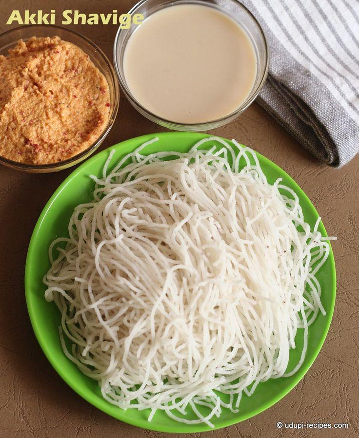 Akki shavige Home made Rice noodles - Healthy south Indian filling breakfast.