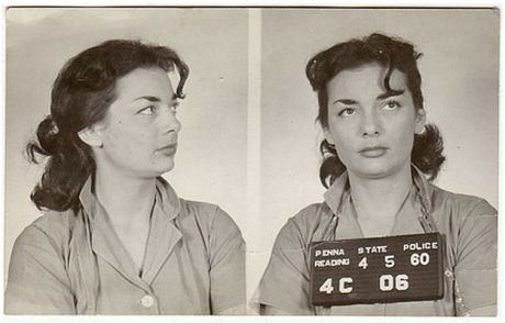 I just can't get enough of these vintage mugshots. Bad-girl voyeurism, I suppose.